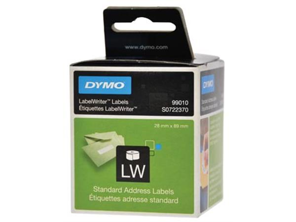 Dymo etiketten LabelWriter ft 89 x 28 mm. wit. 260