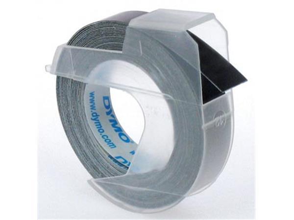 Dymo tape 9 mm voor lettertang Omega. zwart