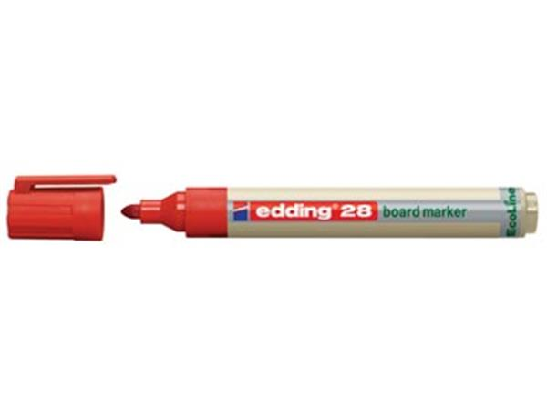 Edding Whiteboardmarker Ecoline e-28 rood