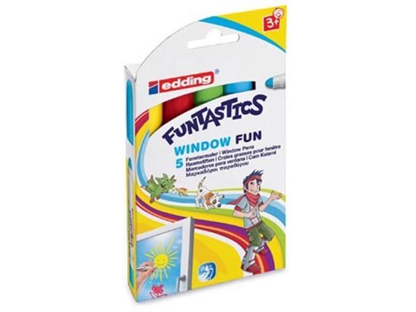 Edding Window Marker Funtastics. ophangetui met 5