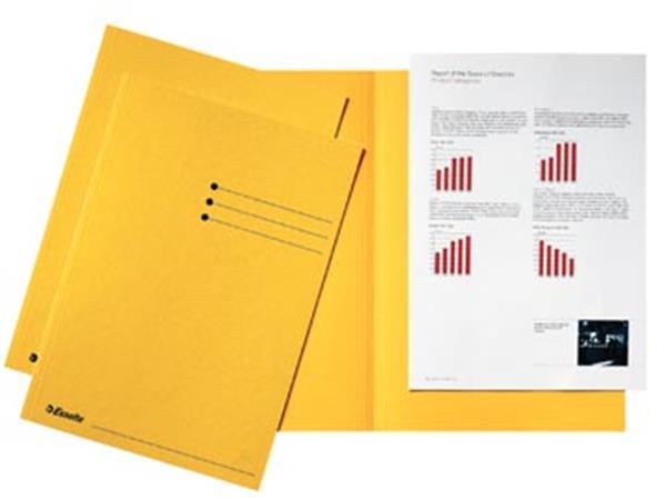 Esselte dossiermap geel, karton van 180 g/m², pak van 100 stuks