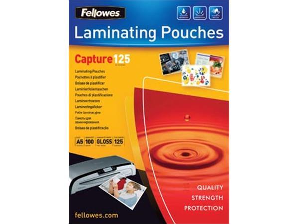 Fellowes lamineerhoes Capture125 ft A5, 250 micron (2 x 125 micron), pak van 100 stuks