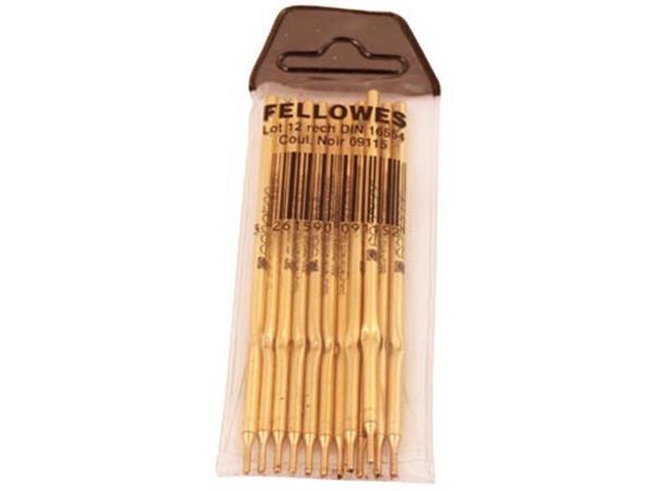 Fellowes vulling Stylofoor, zwart, pak 12 stuks