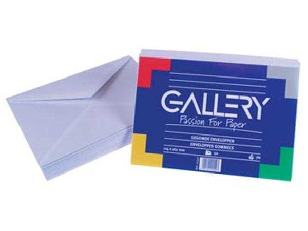 Gallery enveloppen ft 114 x 162 mm. gegomd. pak va