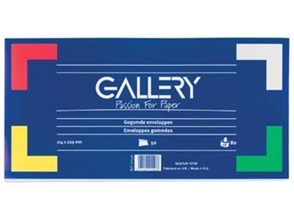Gallery enveloppen ft 114 x 229 mm. gegomd. pak va