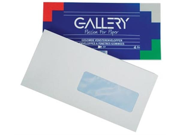 Gallery enveloppen ft 114 x 229 mm. met venster re