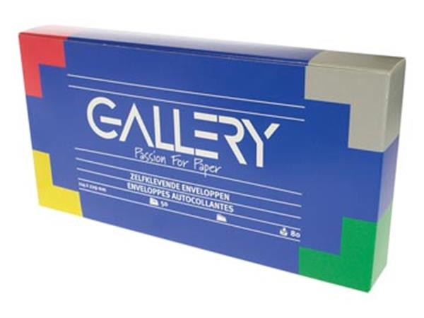 Gallery enveloppen ft 114 x 229 mm. stripsluiting.