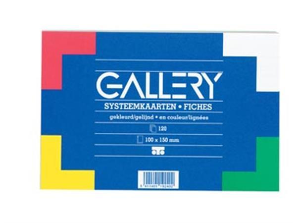 Gallery gekleurde systeemkaarten. ft 10 x 15 cm. g