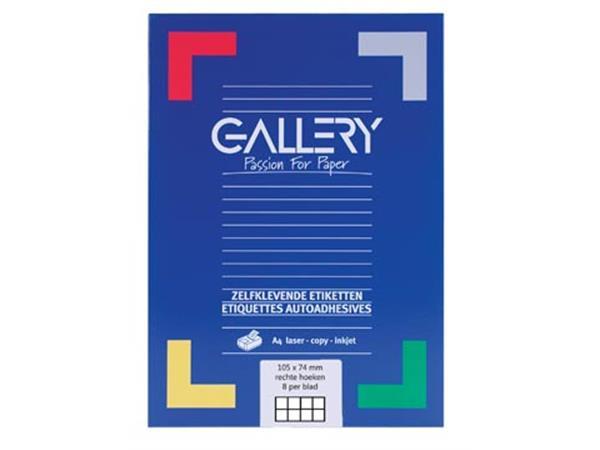 Gallery witte etiketten Ft 105 x 74 mm (b x h). re