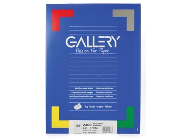 Gallery witte etiketten Ft 70 x 36 mm (b x h). rec
