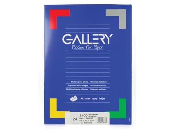 Gallery witte etiketten ft 66 x 33.9 mm (b x h). r