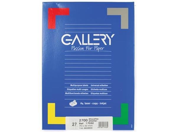 Gallery witte etiketten ft 70 x 32 mm (b x h). rec