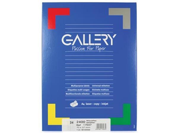 Gallery witte etiketten ft 70 x 37 mm (b x h). rec