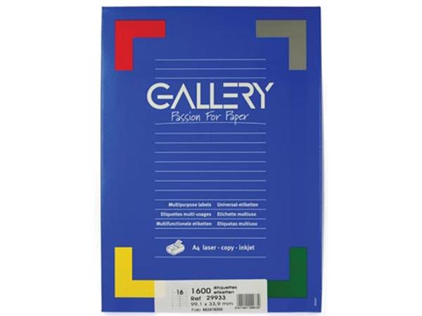 Gallery witte etiketten ft 99.1 x 33.9 mm (b x h).