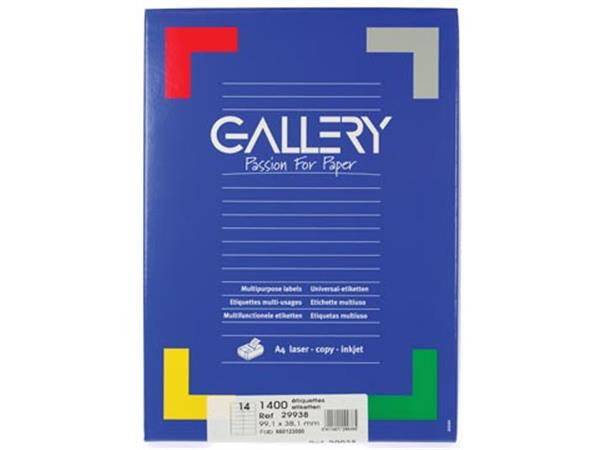 Gallery witte etiketten ft 99.1 x 38.1 mm (b x h).