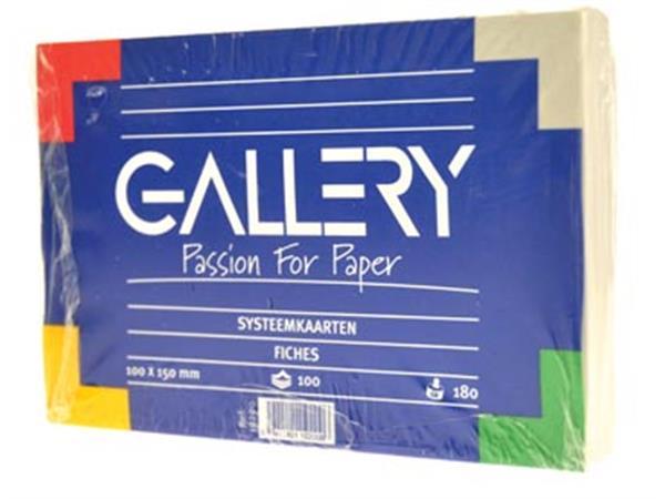 Gallery witte systeemkaarten. ft 10 x 15 cm. effen