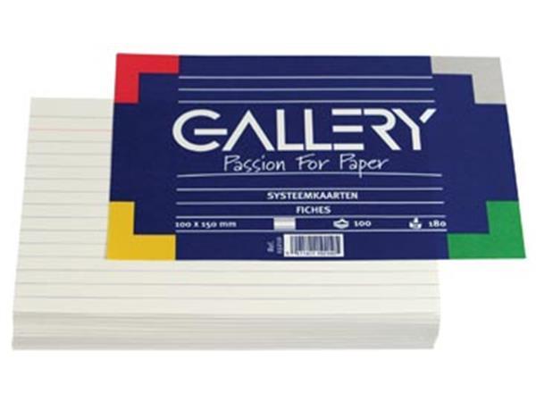 Gallery witte systeemkaarten. ft 10 x 15 cm. gelij