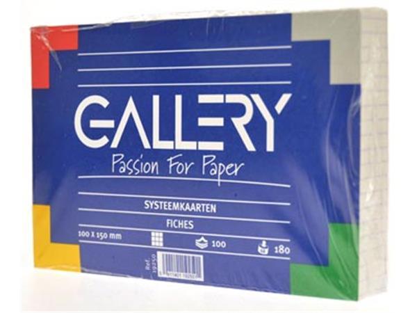 Gallery witte systeemkaarten. ft 10 x 15 cm. gerui
