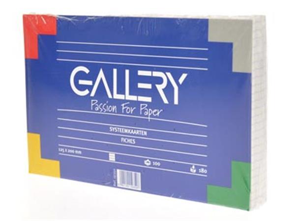 Gallery witte systeemkaarten. ft 12.5 x 20 cm. ger