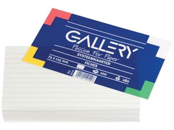 Gallery witte systeemkaarten. ft 7.5 x 12.5 cm. ge