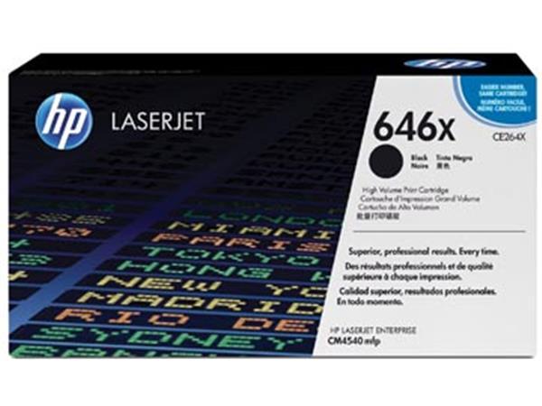 HP toner 64X. 17 000 pagina's. OEM CE264X. zwart