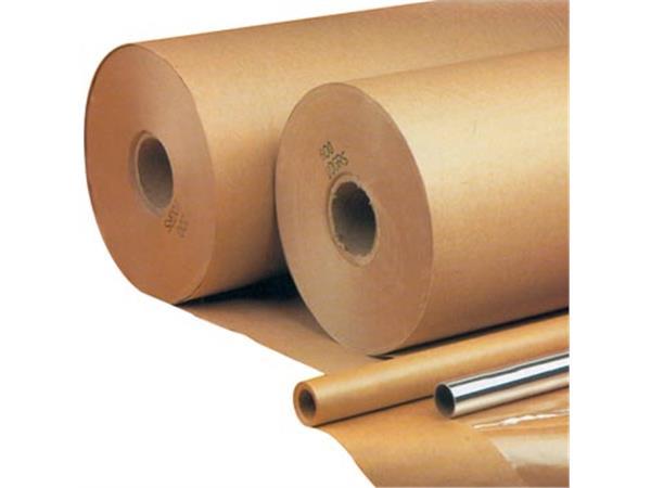 Inpakpapier op rol 90 g/m². ft 5 m x 70 cm. kraft