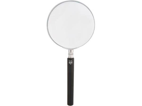 Leesloep diameter: 75 mm. vergroot 4 keer. in een