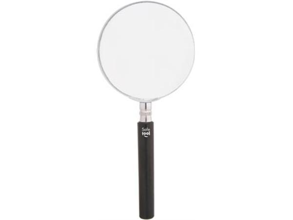 Leesloep diameter: 90 mm. vergroot 3.5 keer. op bl