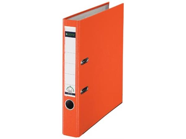 Leitz ordner oranje, rug van 5 cm
