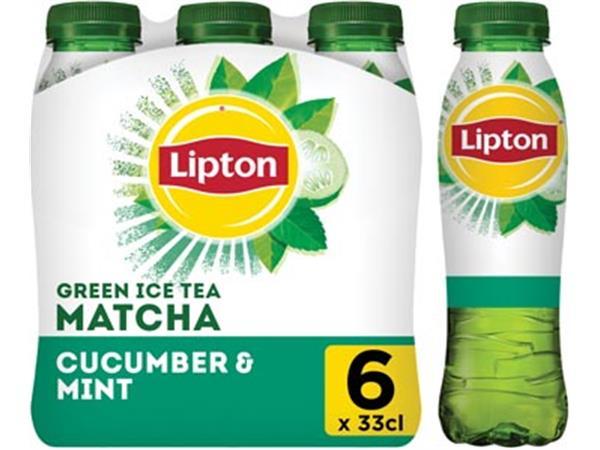 Lipton Matcha Green tea. Komkommer en munt. 33 cl.