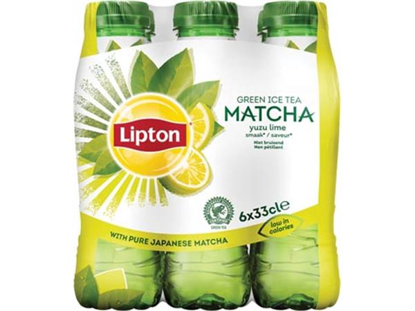 Lipton Matcha Green tea. Yuzu en limoen. 33 cl. pa