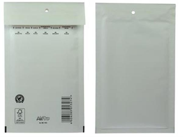 Luchtkussenenveloppen Ft 120 x 215 mm met stripsluiting, wit, doos van 200 stuks