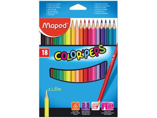 Maped kleurpotlood Color'Peps. 18 potloden