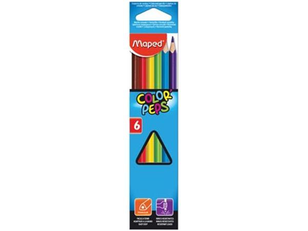 Maped kleurpotlood Color'Peps. 6 potloden
