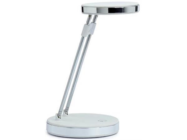 Maul bureaulamp MAULpuck. LED-lamp. wit