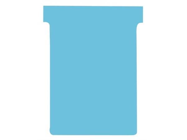 Nobo T-kaarten index 3. ft 120 x 92 mm. lichtblauw