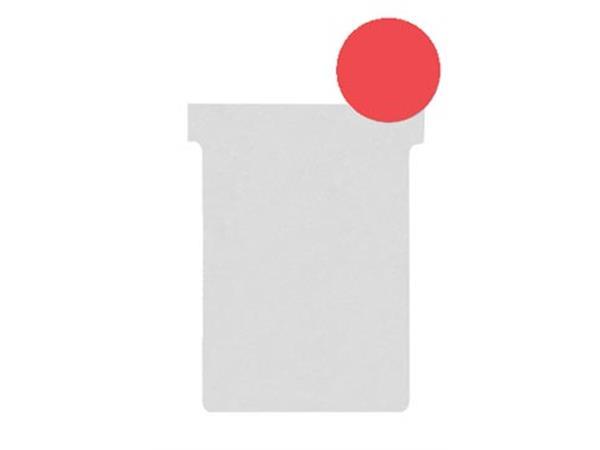 Nobo T-planbordkaarten index 2. ft 85 x 60 mm. roo