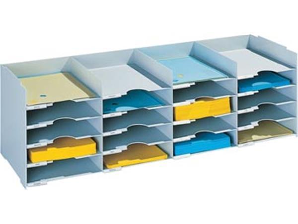 Paperflow sorteerbakje. 20 laden. breedte 101 cm
