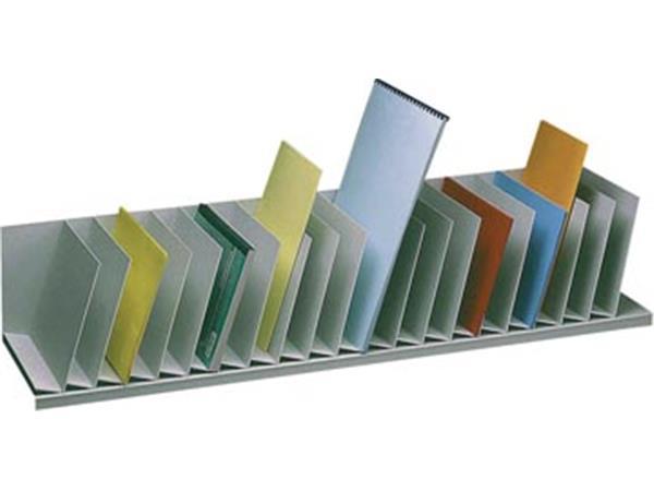 Paperflow sorteervak met vaste tussenschotten. sch
