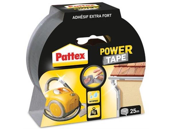 Pattex plakband Power Tape lengte: 25 m. grijs