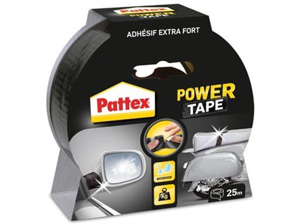 Pattex plakband Power Tape lengte: 25 m. zwart
