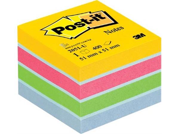 Post-It Notes Mini Kubus Ultra. 400 blaadjes. ft 5