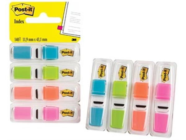 Post-it Index Smal. 4 x 35 tabs. turkoois. lichtgr