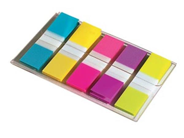 Post-it Index Smal. ft 12 x 43 mm. blister met 5 k