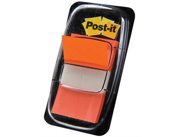 Post-it Index standaard. ft 25.4 x 43.2 mm. oranje