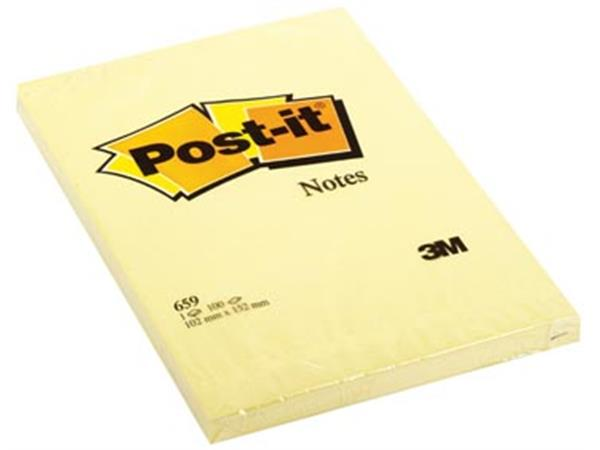Post-it Notes. ft 102 x 152 mm. geel. blok van 100