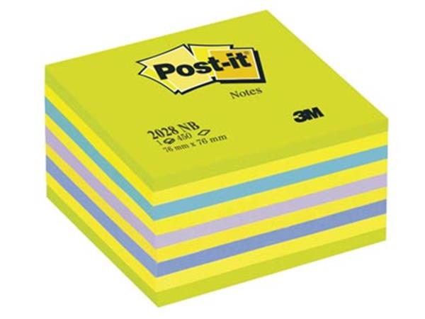 Post-it Notes. ft 76 x 76 mm. geassorteerde kleure