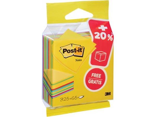 Post-it Notes kubus ft 76 mm x 76 mm, Ultra, blok van 325 + 65 vel gratis, op blister