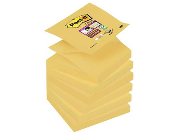 Post-it Super Sticky Z-Notes. ft 76 x 76 mm. geel.