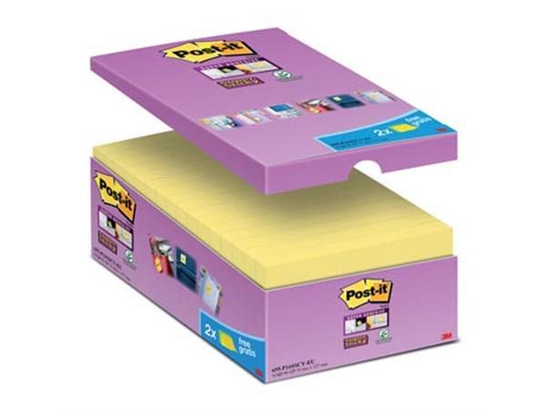 Post-it Super Sticky notes. ft 76 x 127 mm. geel.
